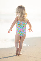 Girls Ruffle One-Piece Suit in Citrus
