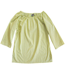 Haley Tunic in Lime Gingham