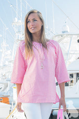 Haley Tunic in Pink Gingham