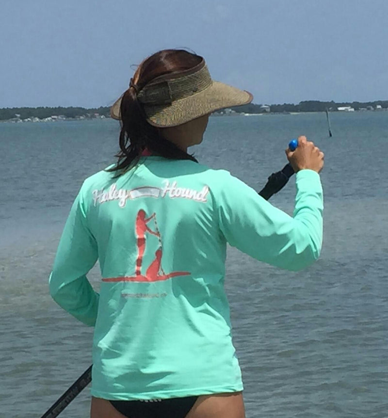 SPF T-shirt in Mint Stand Up Paddleboard