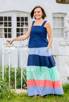 Maxi Skirt in Spring Stripes
