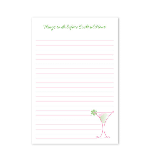 Memo Pad, Things to do before Cocktail Hour