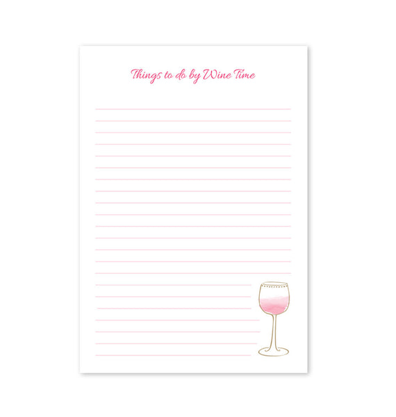 Memo Pad, Things to do by Wine Time