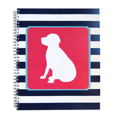 Notebook, Navy Striped Lab