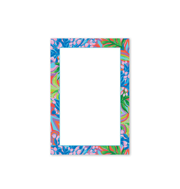 Note Pad, Blue Floral
