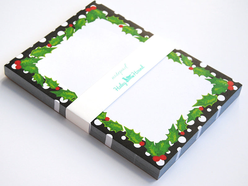 Note Pad, Holly Berry