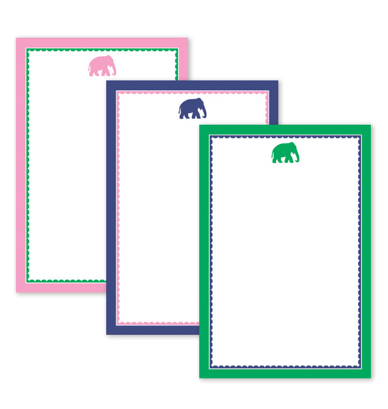 Note Pad, Preppy Elephant