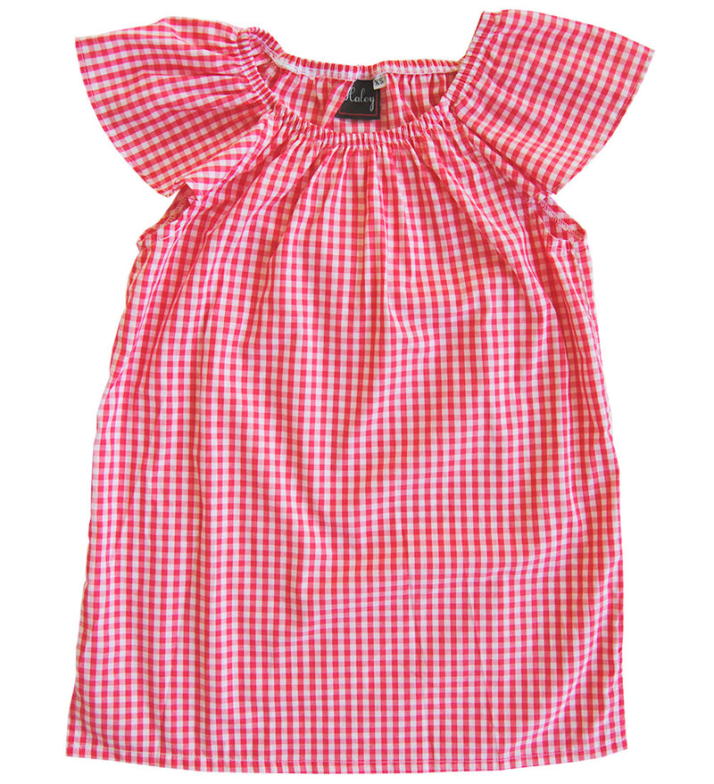 Olivia Top in Watermelon Gingham