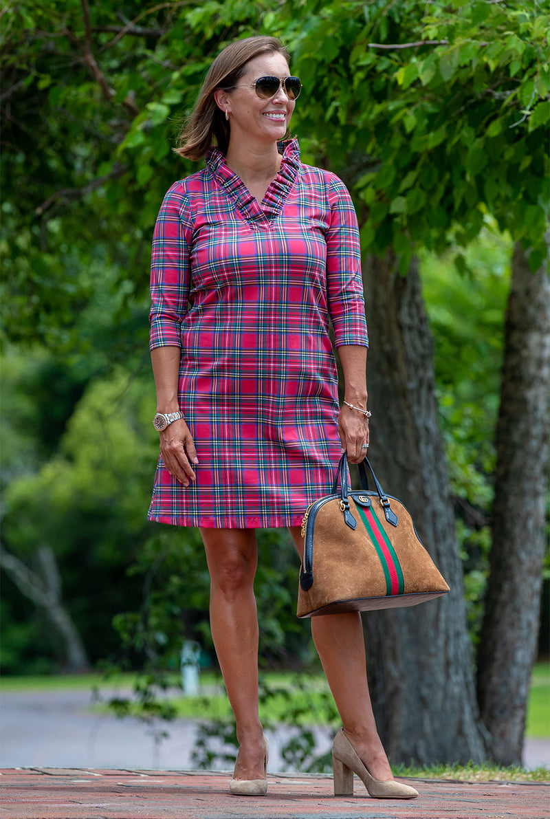 Parker Dress in Stewart Tartan