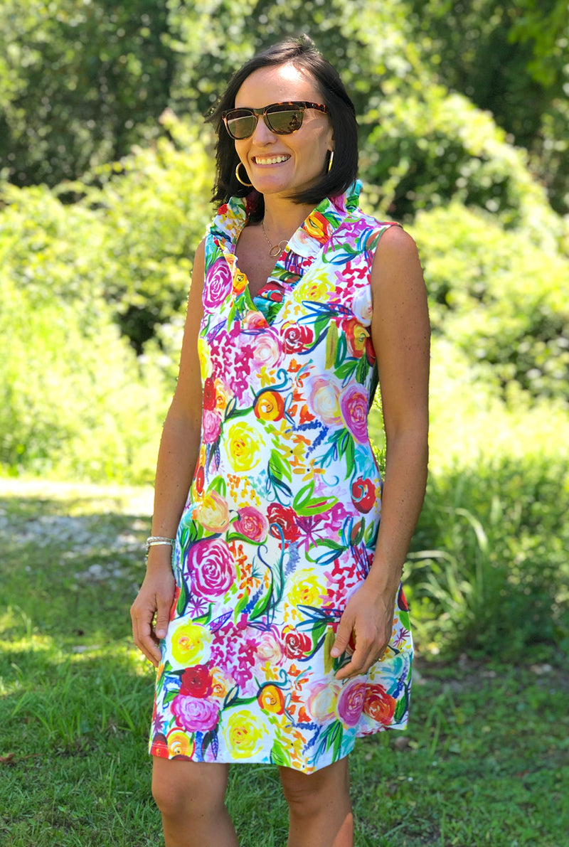 Sleeveless Parker Dress in Summer Floral