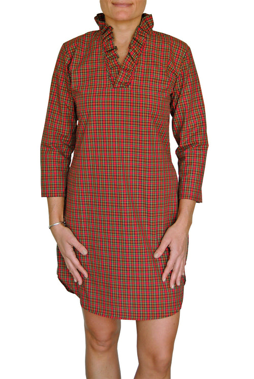 Parker Dress in Red Tartan