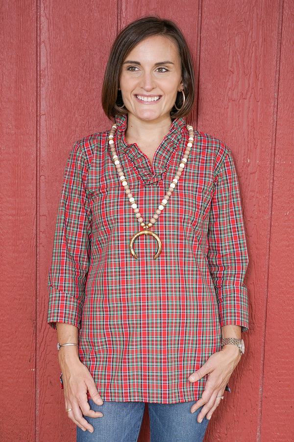 Parker Tunic in Holiday Tartan
