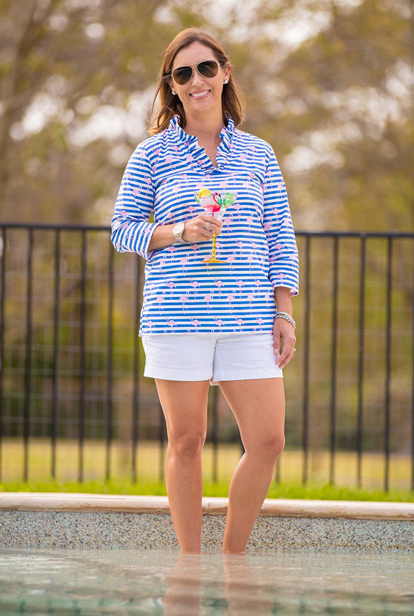 Parker Tunic in Nautical Flamingo