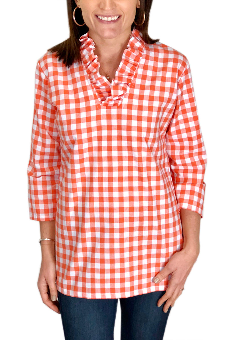 Parker Tunic in Orange Check