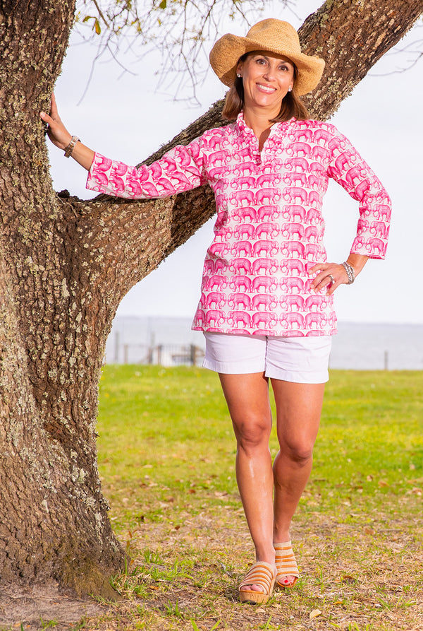 Parker Tunic in The Pink Elephant