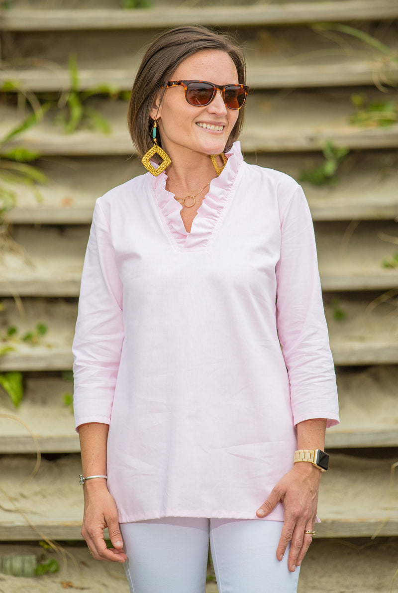 Parker Tunic in Pink Oxford
