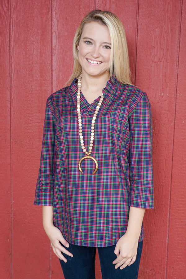 Parker Tunic in Winter Plaid