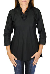 Parker Tunic in Black Broadcloth