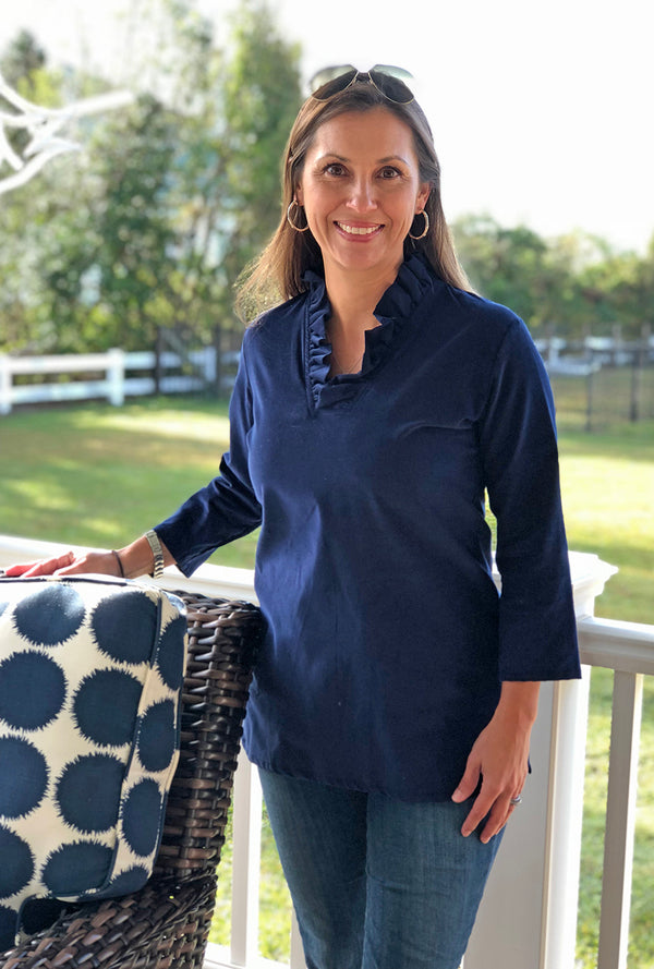 Parker Tunic in Navy Corduroy
