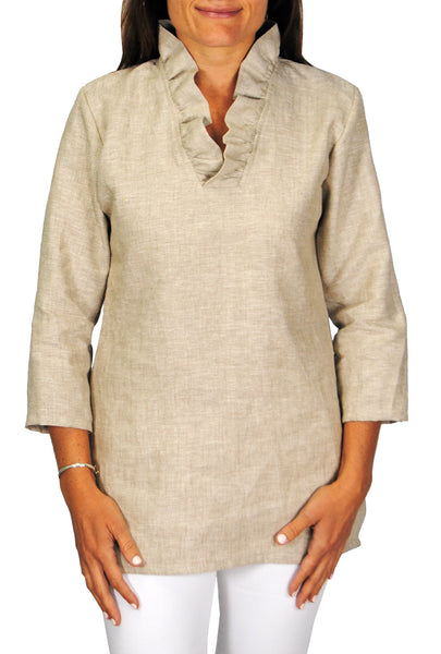 Parker Tunic in Natural Linen