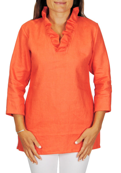 Parker Tunic in Salmon Linen