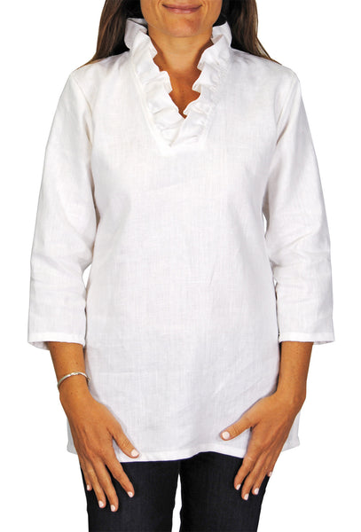 Parker Tunic in White Linen