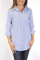 Popover Tunic in Navy Stripe