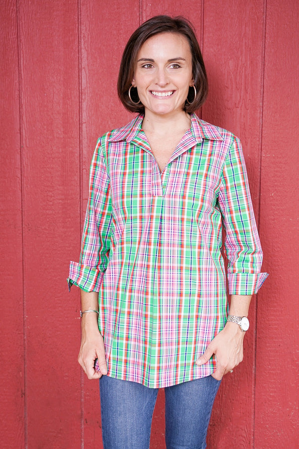 Popover Tunic in Preppy Plaid
