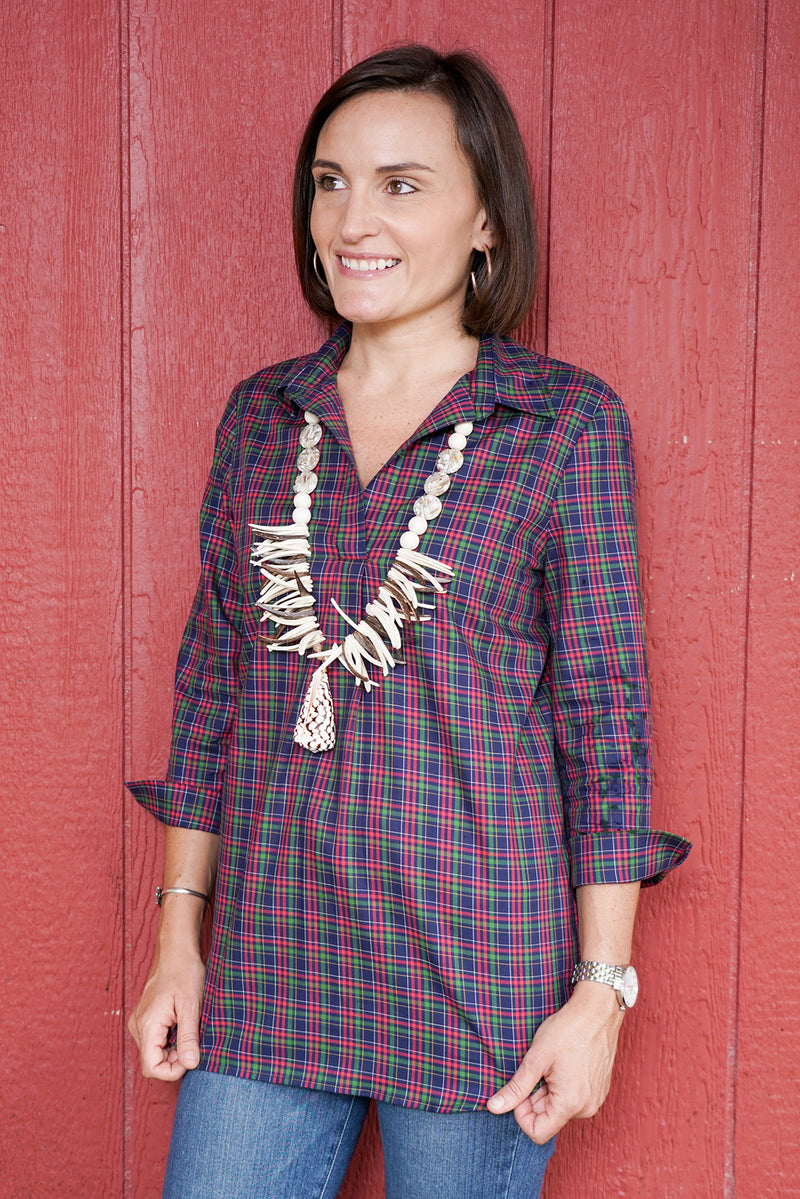 Popover Tunic in Winter Plaid
