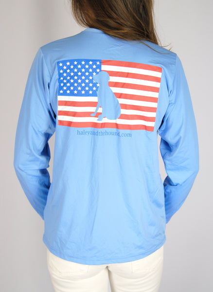 SPF T-shirt in Marine Blue with American Lab