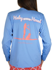 SPF T-shirt in Stand Up Paddleboard on Marine Blue