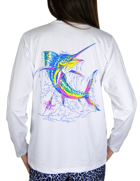SPF T-shirt in Marlin on White