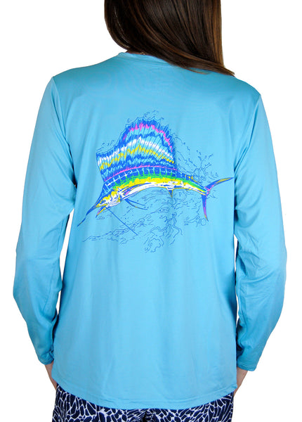 SPF T-shirt in Sailfish on Aqua