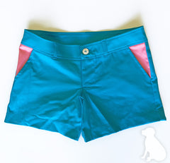 Sally Shorts in Turquoise Solid