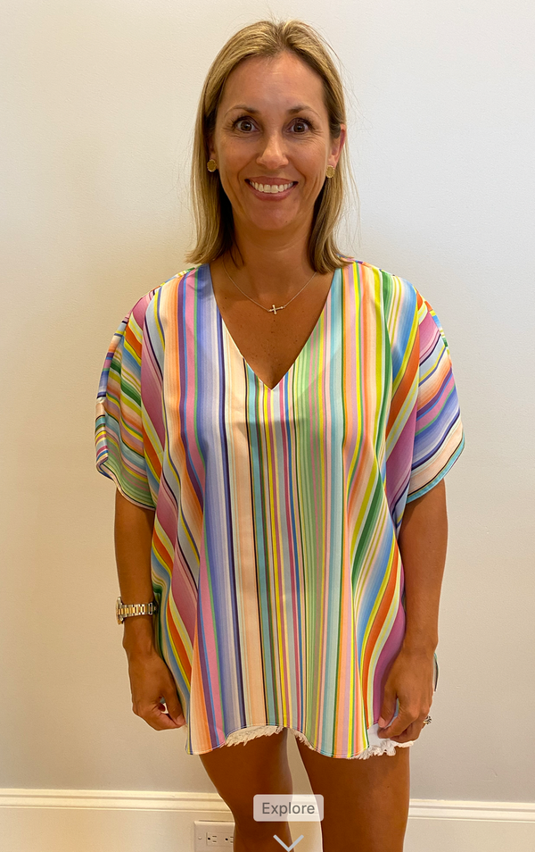 Millie Top-Serape Stripe