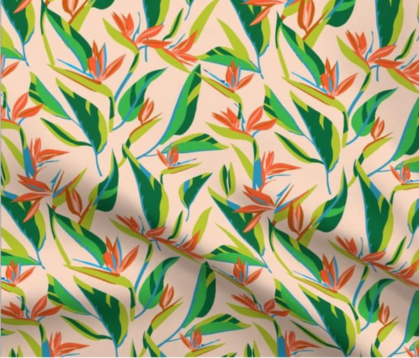 Popover Dress in Birds of Paradise
