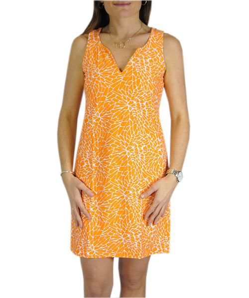 Sleeveless Julia Dress in EBI Orange Floral