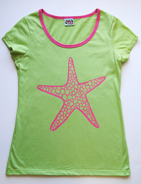 Amelia Tee in Lime Starfish