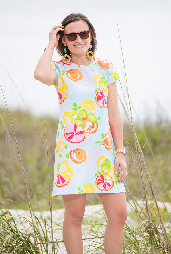 Tee Dress in Citrus