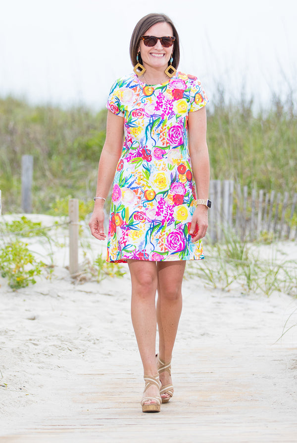 Tee Dress in Summer Floral