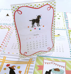 Acrylic Desk Calendar - Dog-themed