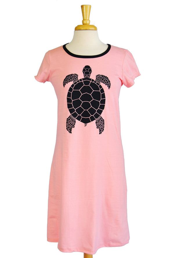 Amelia Dress - Turtle in Light Pink