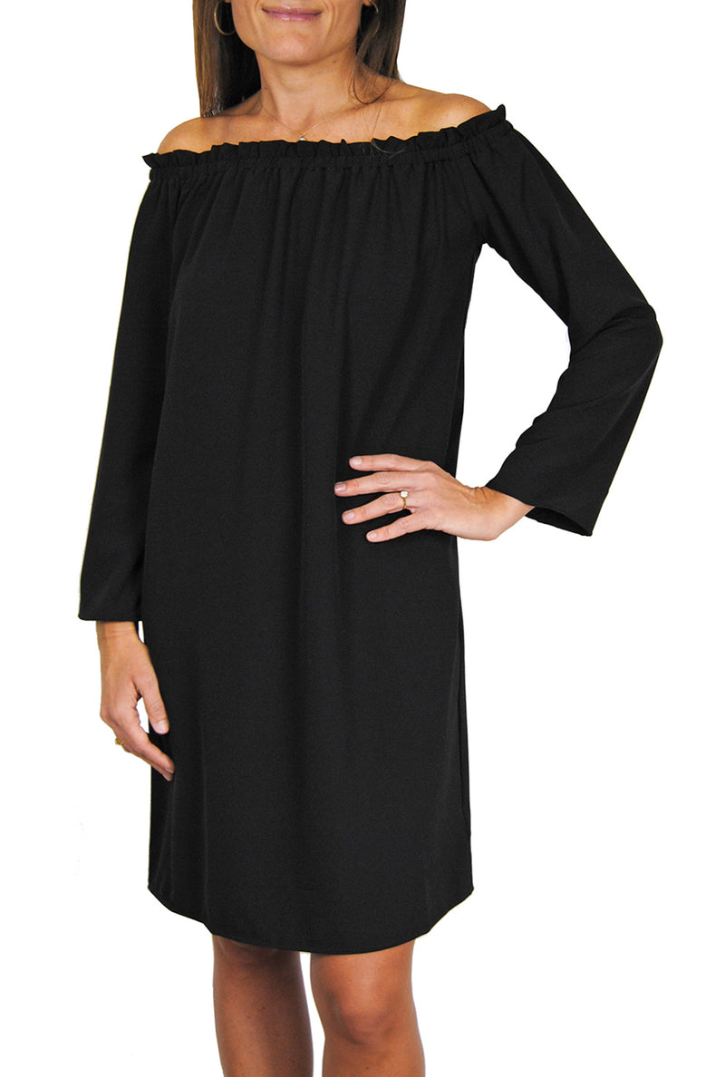 Betty Dress in Black Crepe