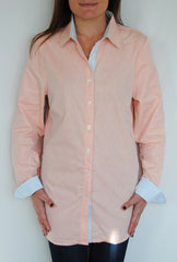 Boyfriend Shirt in Orange Chambray