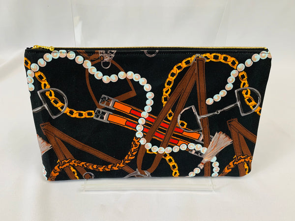 Canvas Clutch in Classic Equestrian