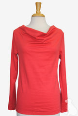 Cowl Neck Top in Coral