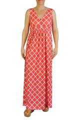 Criss Cross Maxi in Coral Lattice