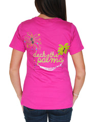 Deck the Palms T-Shirt in Berry
