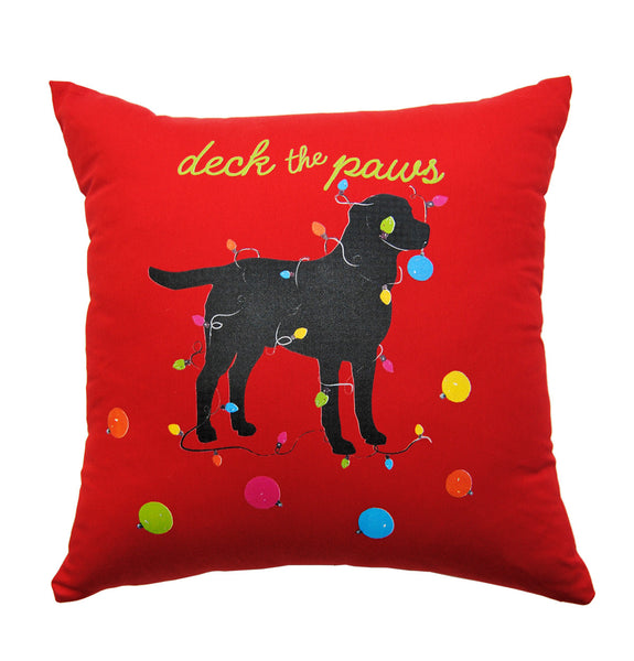Pillow - Deck the Paws