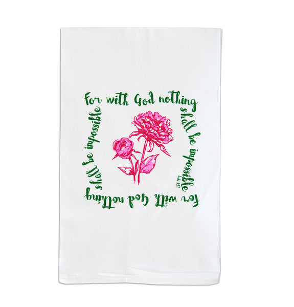 Faithful Tea Towel - Flower